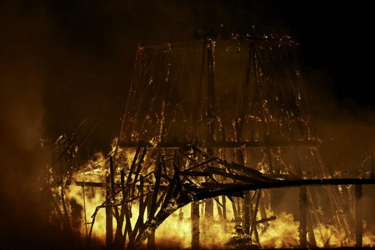 Temple Burn in Northern Ireland