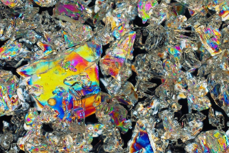 Colorful Photos of Ice Crystals by Tom Wagner