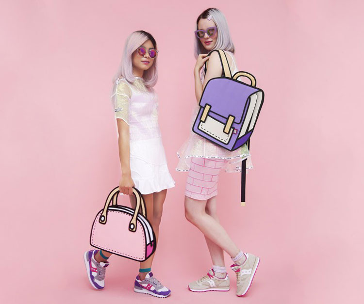 JumpFromPaper 2-D Drawing Bags