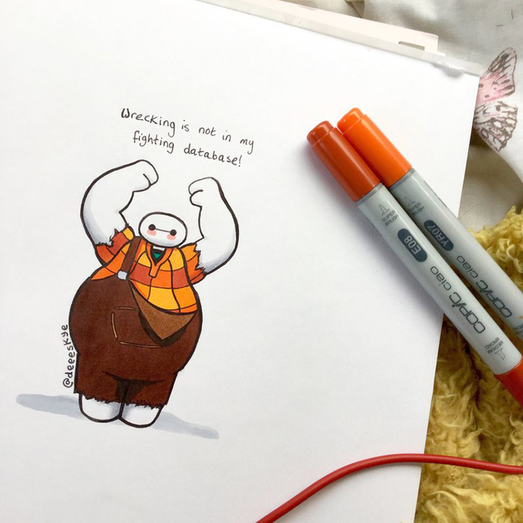 Baymax Dressed as Wreck It Ralph