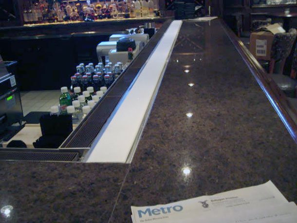 Refrigerated Strip on Bar Keeps Drinks Cold