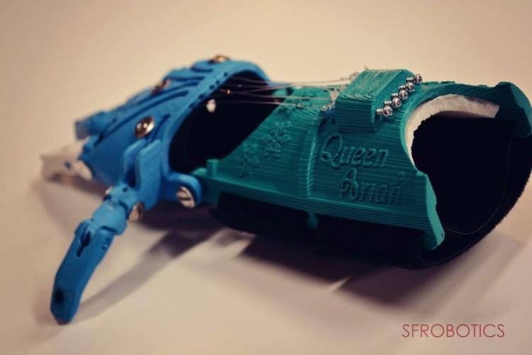 frozen robotic hand