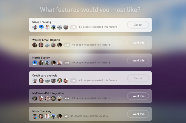 gyroscope feature requests