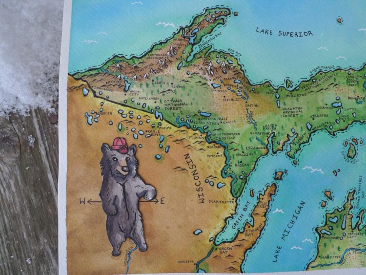 UP map closeup