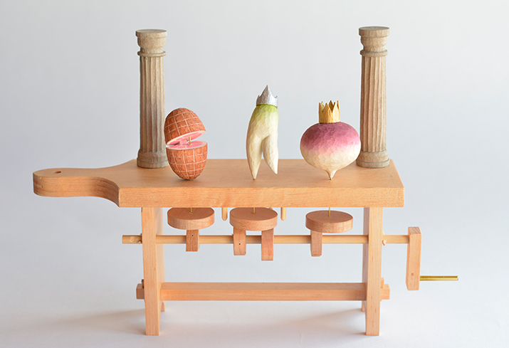 Whimsical Wooden Automaton by  Kazuaki Harada