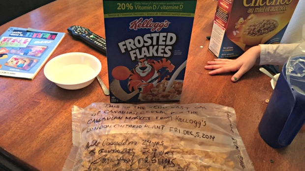 Last Box of Kellogg's Cereal Made in Canada