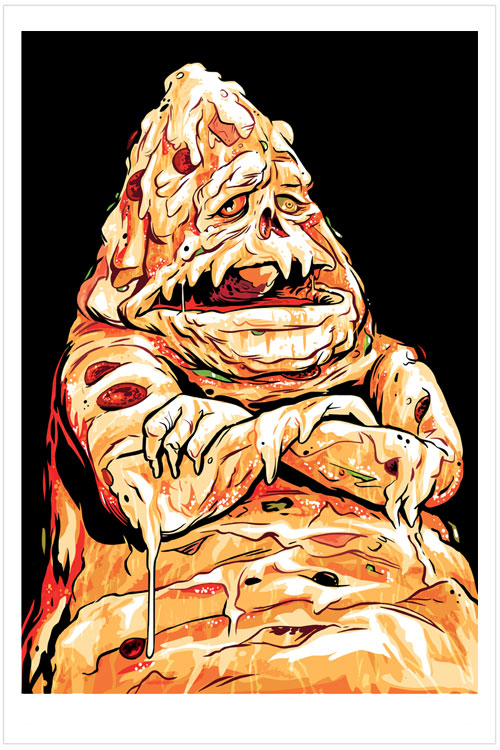 Pizza The Hutt An Illustration By Artist Josh Ellingson Of