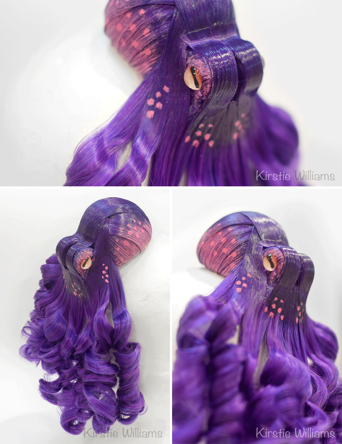 Purple octopus fascinator