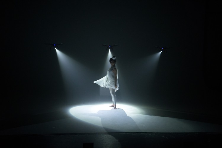 Dance Performance With Spotlight Drones
