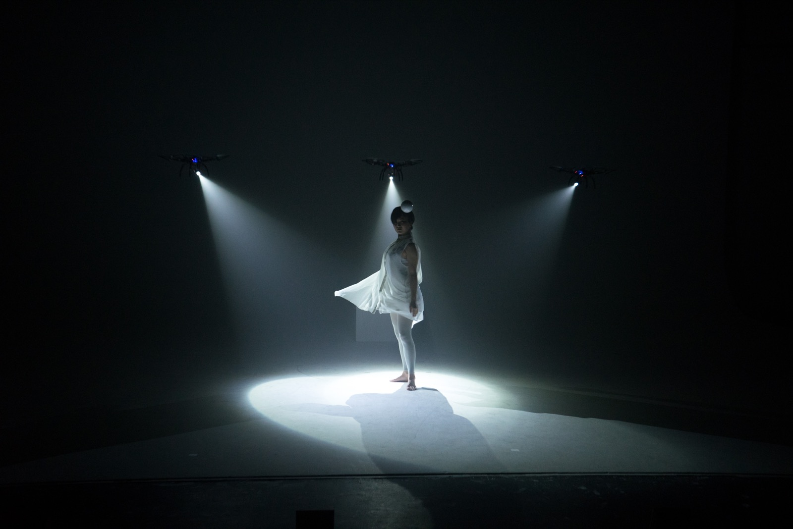Shadow A Solo Dance Performance Illuminated By Three