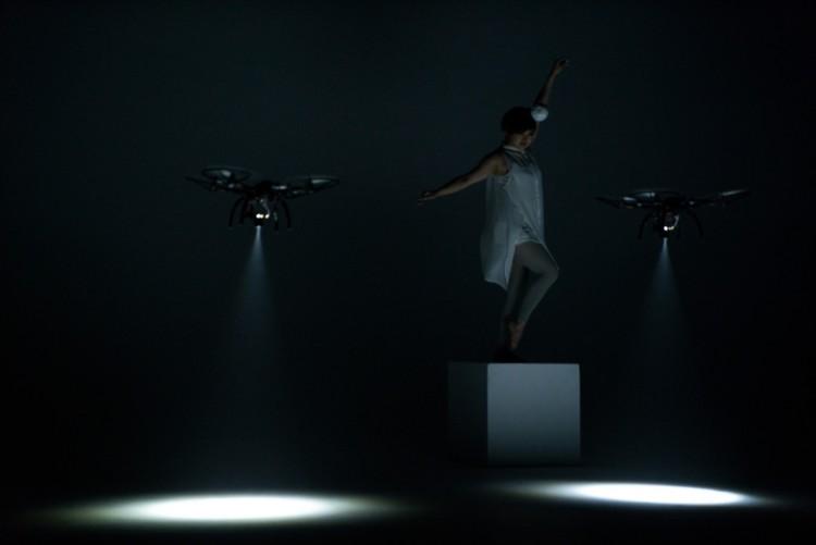 Dance Performance With Spotlight Drones