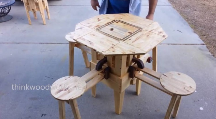 Folding Wooden Picnic Table