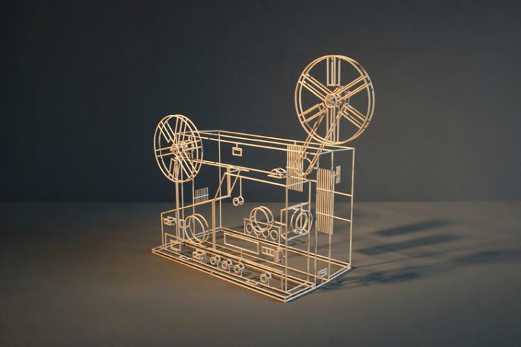 Wooden Wire-Frame Sculptures by Janusz Gruenspek