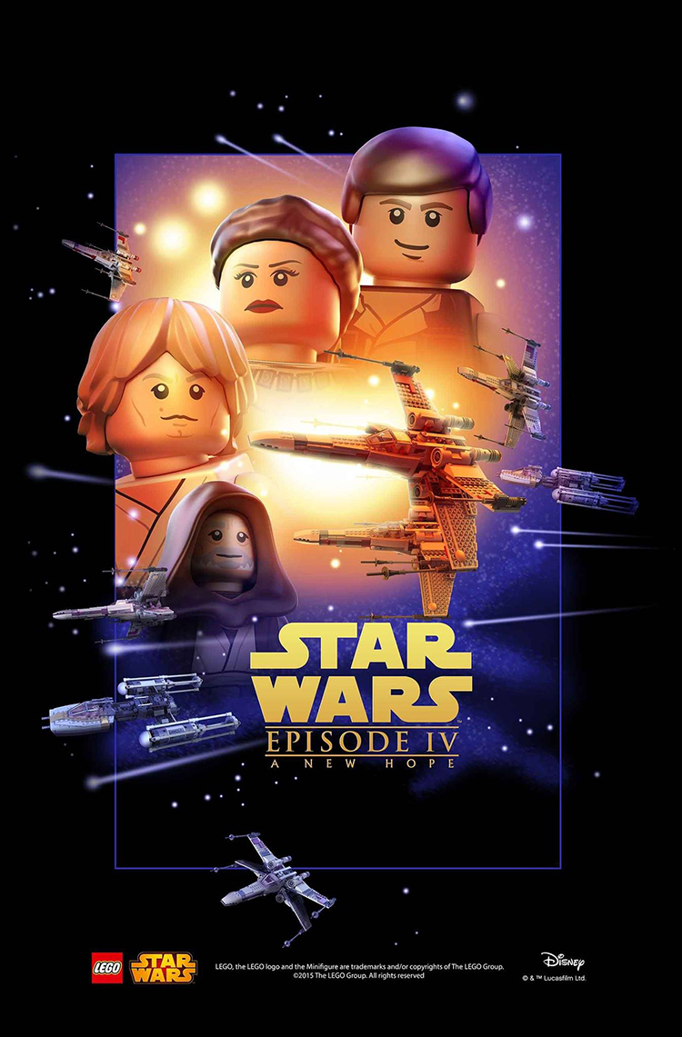 Lego Recreates The First Six Star Wars Movie Posters With Minifigs And Lego Bricks