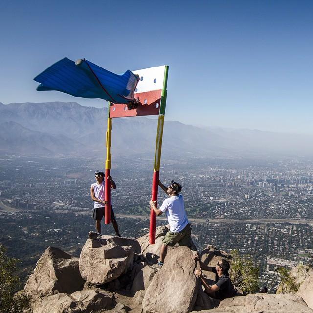 Wingsuit Pilot Hits Chilean Flag Target