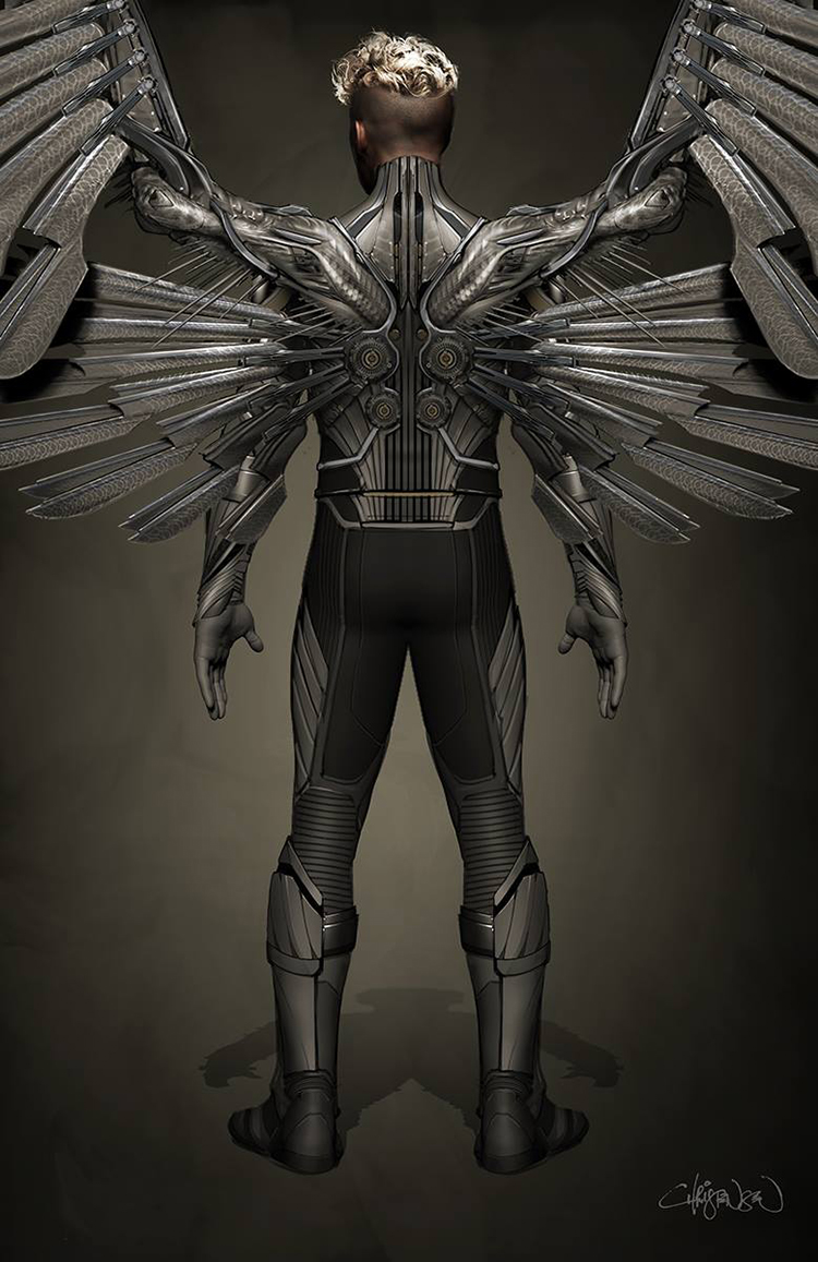 X-Men: Apocalypse Angel Concept Art