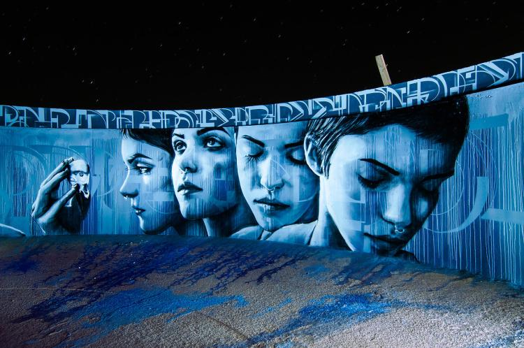 Kinetoscope Mural by Christina Angelina and Ease One