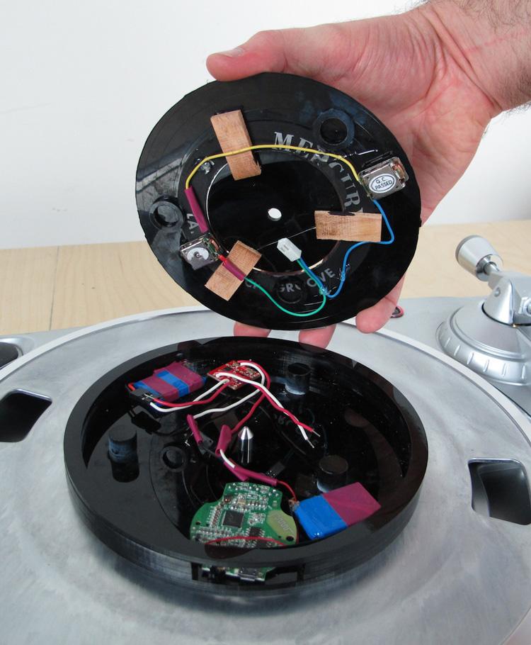 Universal Record Plays Digital Audio on a Turntable
