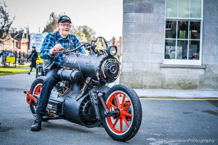 Black Pearl Steam Engine Motorcycle