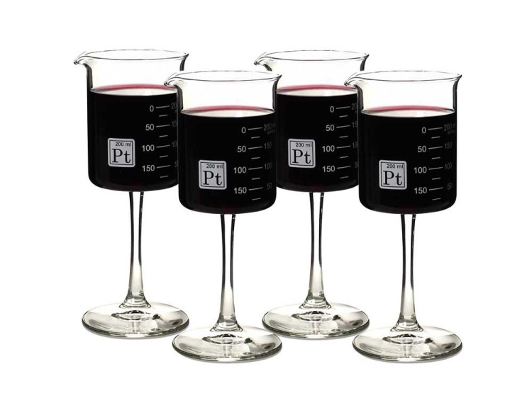 4 Beaker Glasses