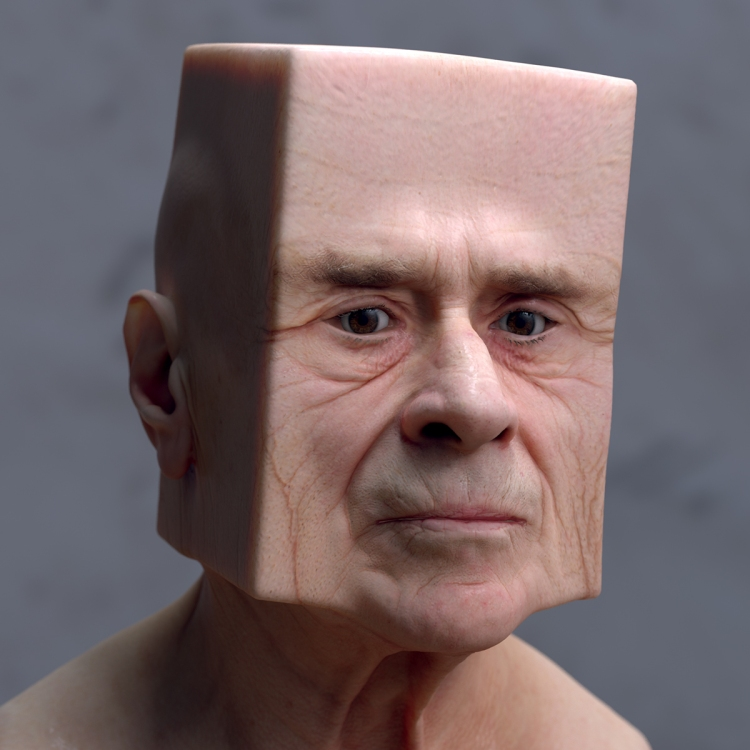 Deformed 3D Faces by Lee Griggs