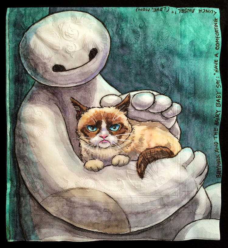 Baymax and Grumpy Cat