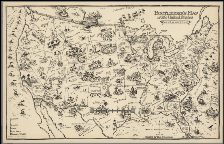 Bootlegger's Map of the United States