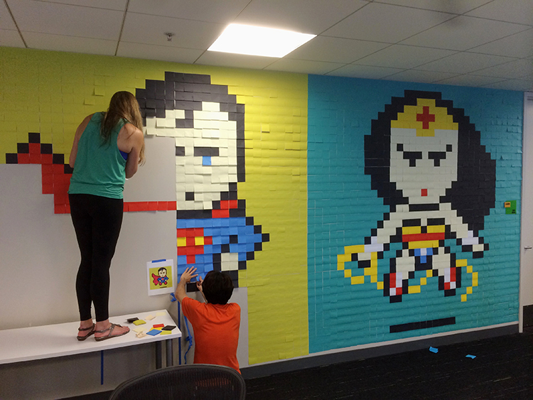 Exceptionnel San Francisco Designers Decorate Their Office Walls With Pixelated  DT02