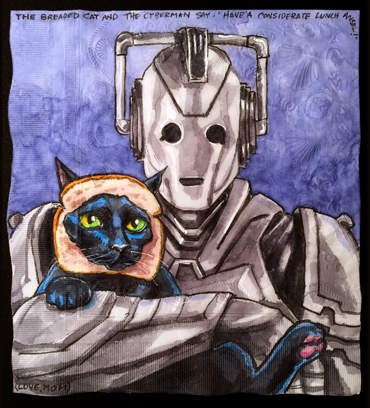 Cyberman with Breaded Cat