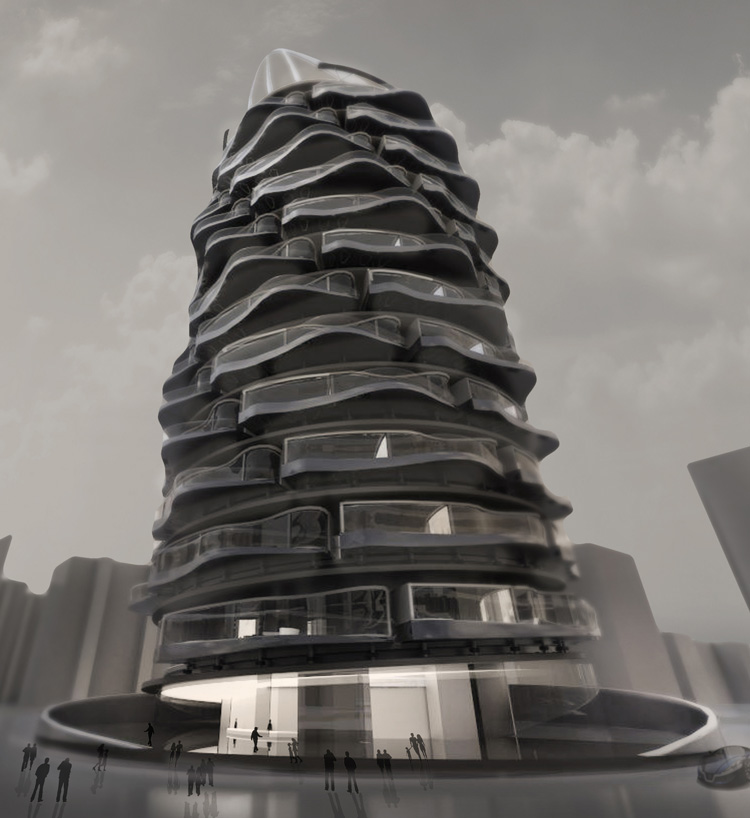 Spiral Building by Shin Kuo