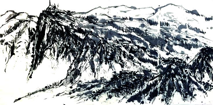 Landskating Rollerblade Painting by Tian Haisu