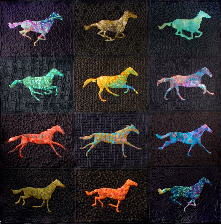 Animated horse quilt