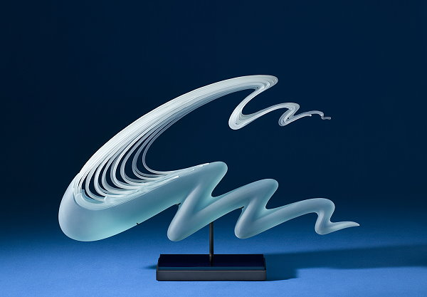 Glass Sculptures of Waves by K. William LeQuier