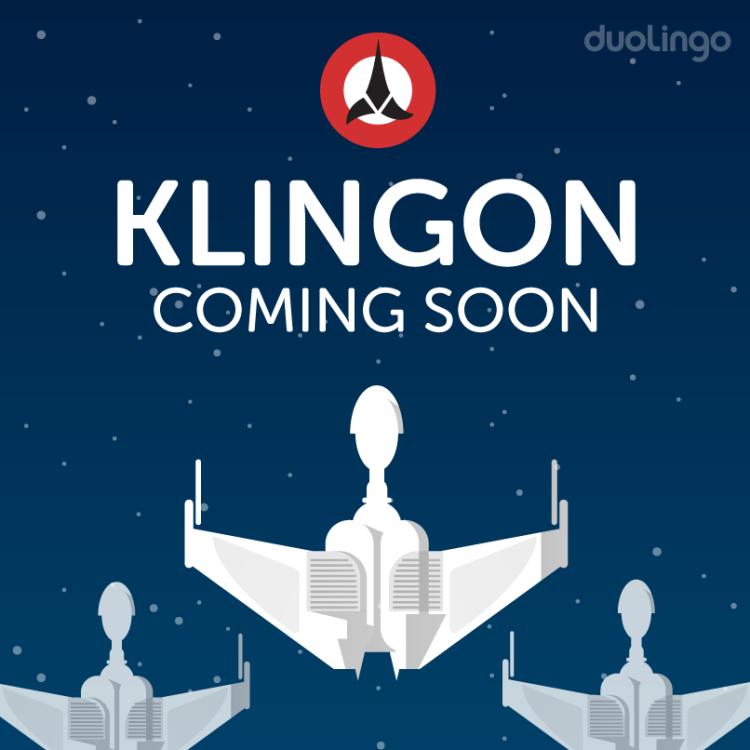 Klingon Coming Soon