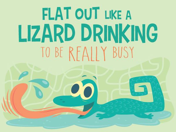 Lizard Drinking