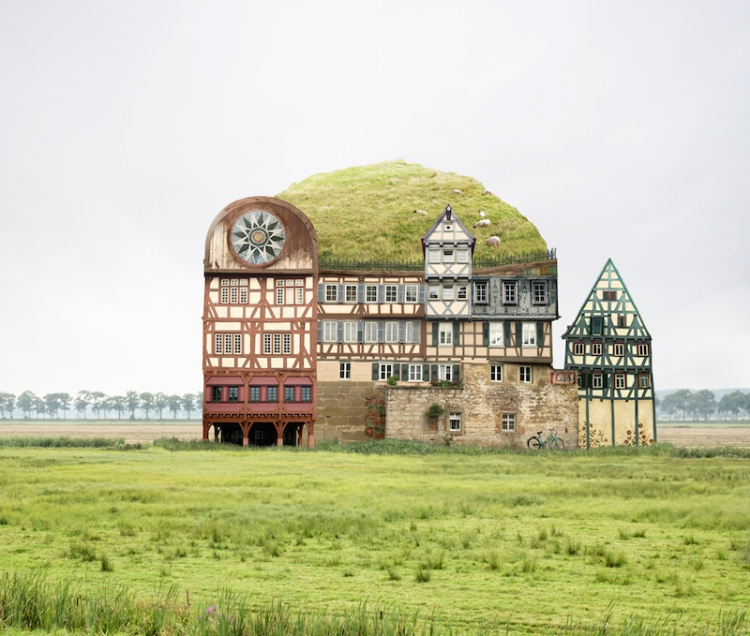 Surreal Photo Collages of Impossible Houses by Matthias Jung