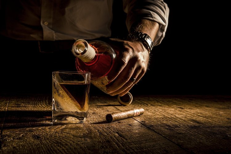 Pouring Whiskey Wedge