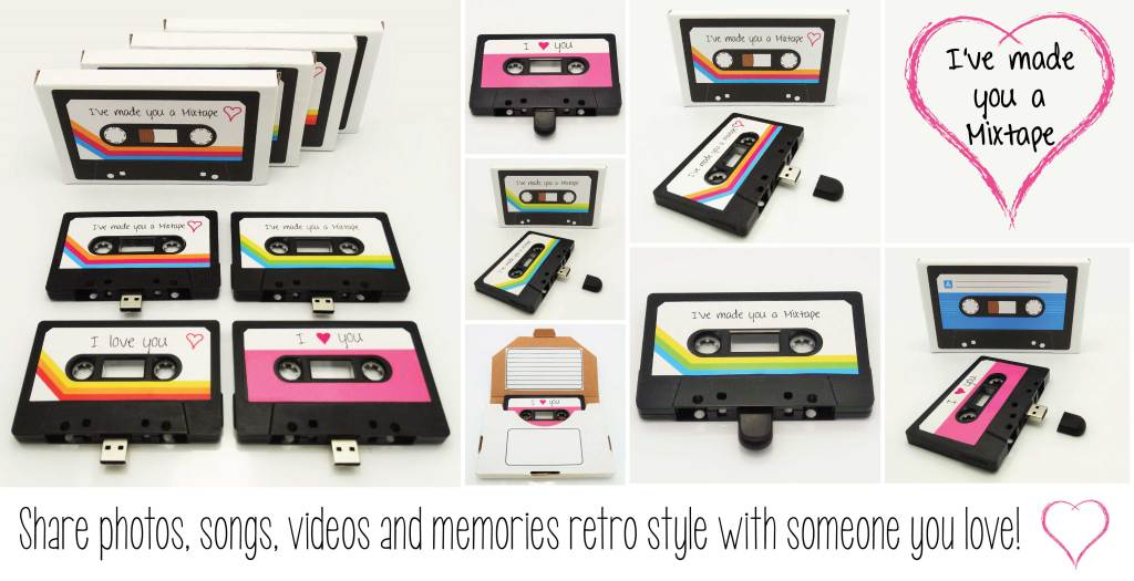USB MixTape, A USB Flash Drive That Is Designed To Look Like a Vintage Cassette Mixtape