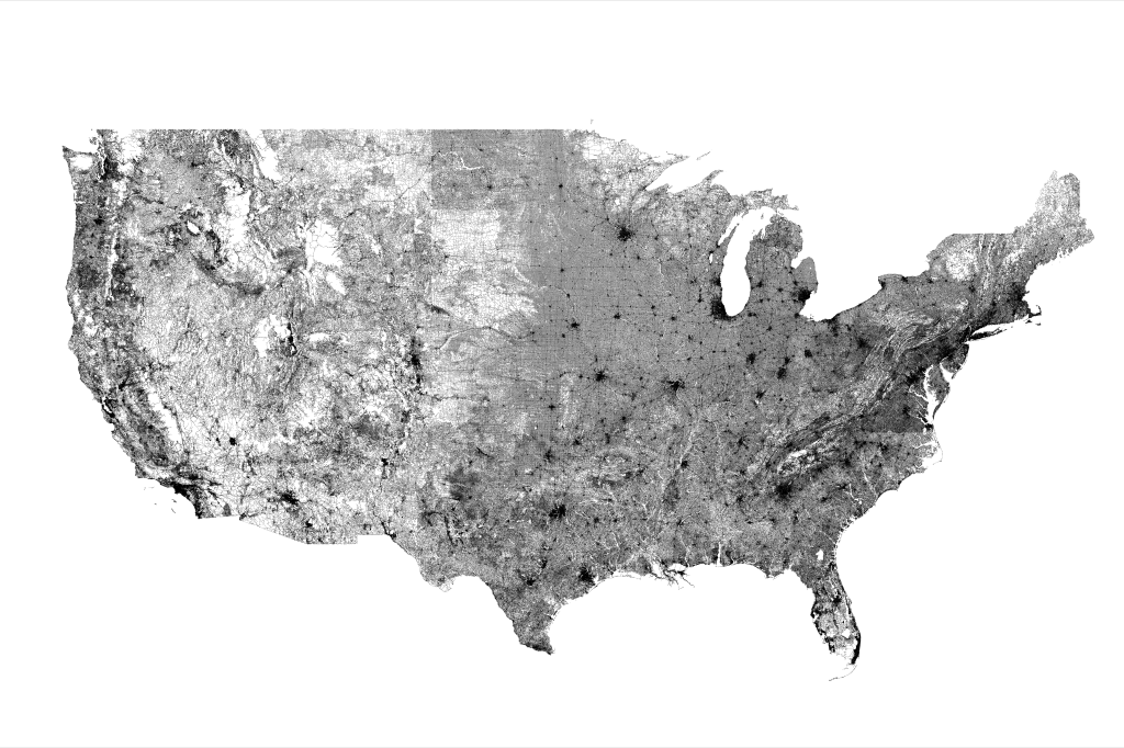 Extremely Detailed Maps of the United States Featuring Every Single Road in the Country