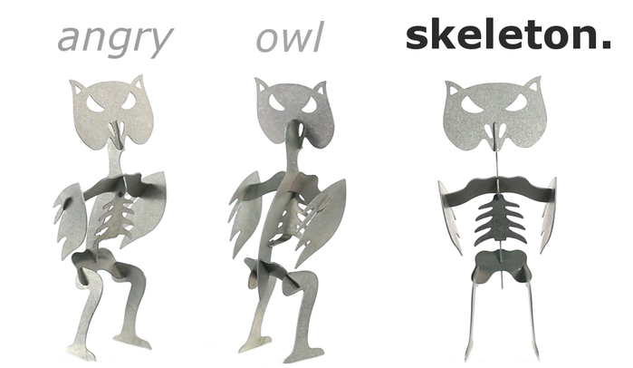 Angry Owl candle skeletons