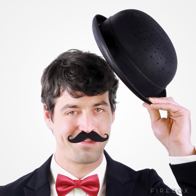 Bowler hat colander tipping