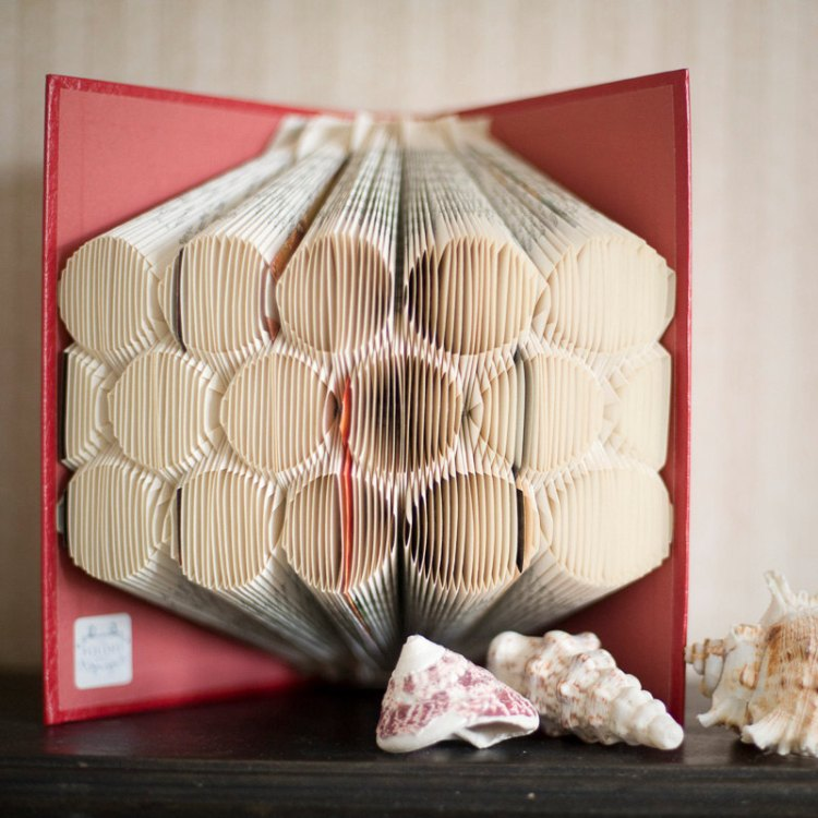 Circles folded book