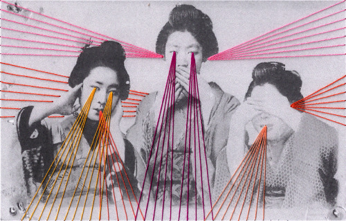 Embroidered photos by Mana Morimoto
