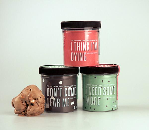 PMS ice cream trio stacked