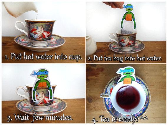 tea hanger instructions