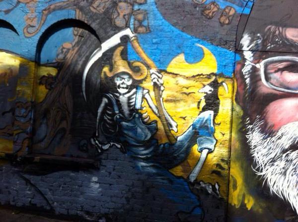 Terry Pratchett mural detail