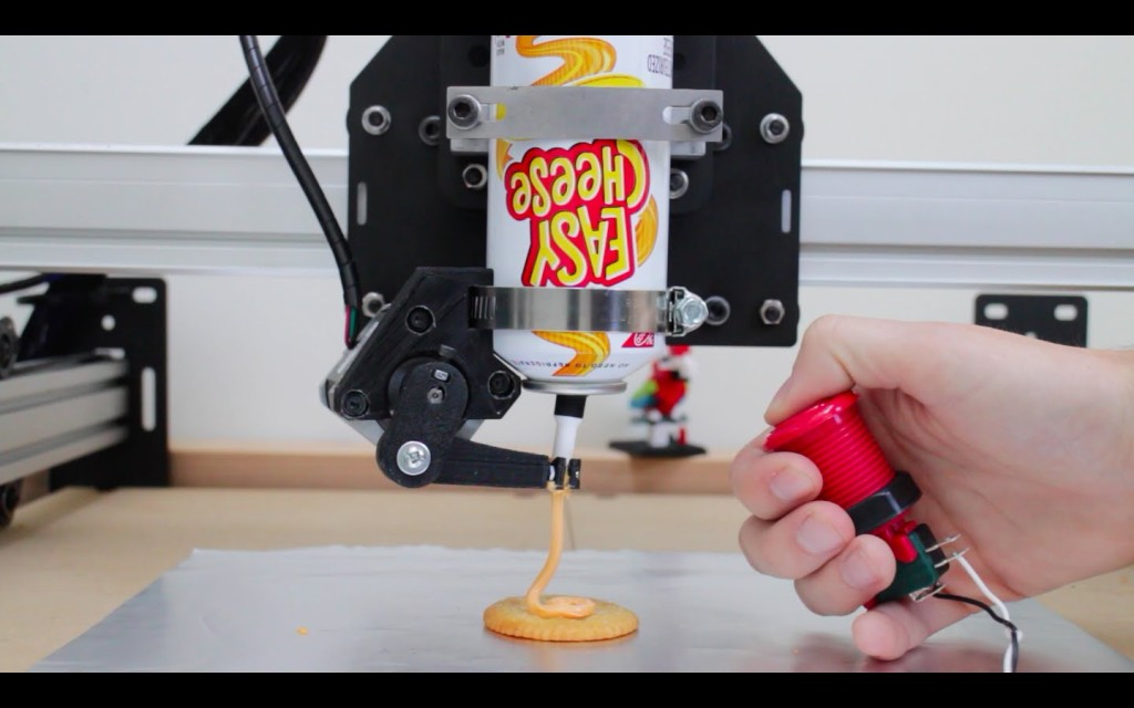 A Motion Control Interface for a 3D Printer That Builds Creations With Spreadable Canned Cheese