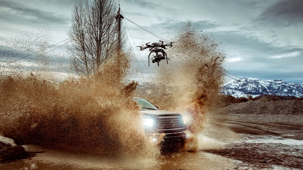 A Production Team Captures Stunning 4K Footage By Attaching a Phantom Camera to Heavy Duty Drone