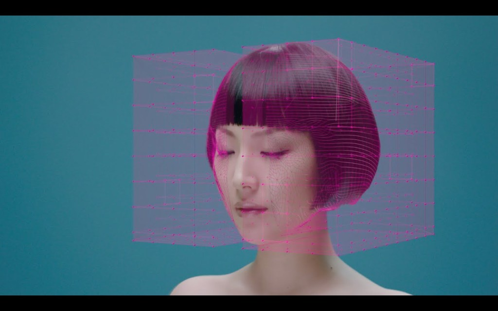 A Singer's Face Undergoes Surreal Distortions in the CGI Music Video for 'Animation' by Young Juvenile Youth