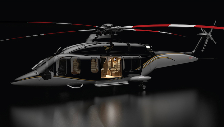 Bell 525 relentless a commercial helicopter with a for Helicoptere interieur